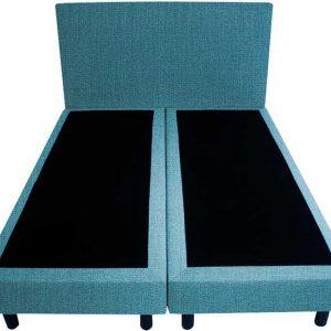 Bedworld Boxspring 120x200 - Geveerd - Seudine - Turquoise (ONC85)