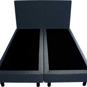 Bedworld Boxspring 120x200 - Geveerd - Velours - Blauw (ML77)