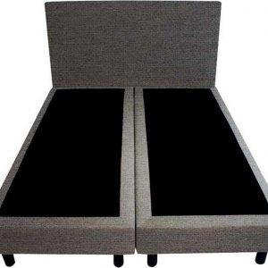 Bedworld Boxspring 120x200 - Geveerd - Waterafstotend grof - Antraciet (P96)