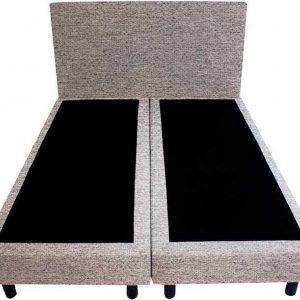 Bedworld Boxspring 120x200 - Geveerd - Waterafstotend grof - Licht grijs (P92)