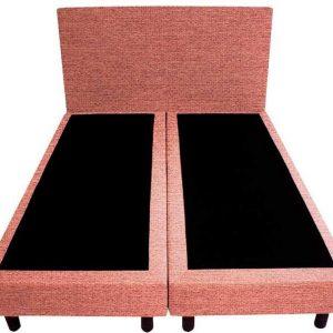 Bedworld Boxspring 120x200 - Geveerd - Waterafstotend grof - Oud roze (P52)