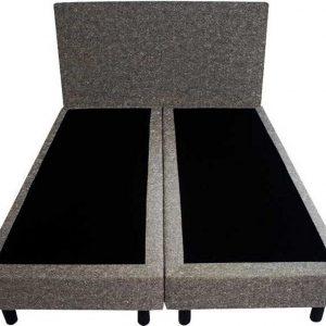 Bedworld Boxspring 120x200 - Geveerd - Wol look - Donker grijs (WL89)