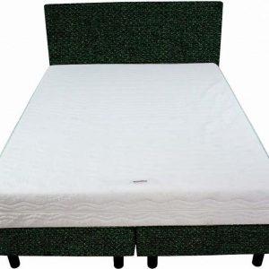 Bedworld Boxspring 120x220 - Stevig - Tweedlook - Donker groen (M37)