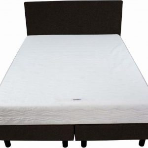 Bedworld Boxspring 120x220 - Stevig - Velours - Donker bruin (ML29)