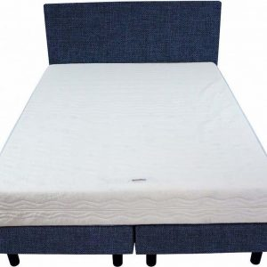 Bedworld Boxspring 140x220 - Medium - Linnenlook - Donker blauw (S80)