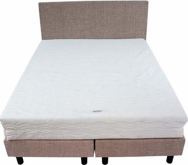 Bedworld Boxspring 140x220 - Medium - Linnenlook - Lila (S11)
