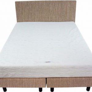 Bedworld Boxspring 140x220 - Medium - Seudine - Beige (ONC22)