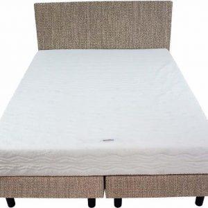 Bedworld Boxspring 140x220 - Medium - Seudine - Donker beige (ONC24)