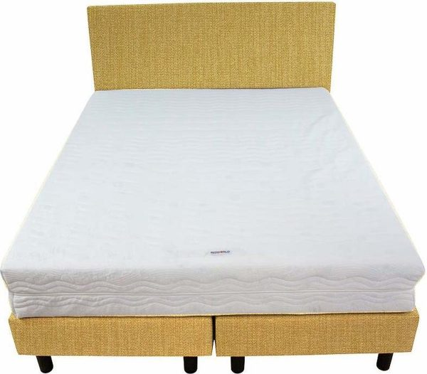 Bedworld Boxspring 140x220 - Medium - Seudine - Geel (ONC40)