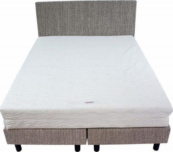 Bedworld Boxspring 140x220 - Medium - Seudine - Grijs (ONC95)
