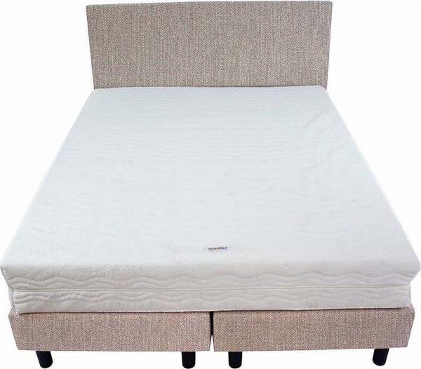 Bedworld Boxspring 140x220 - Medium - Seudine - Licht grijs (ONC90)