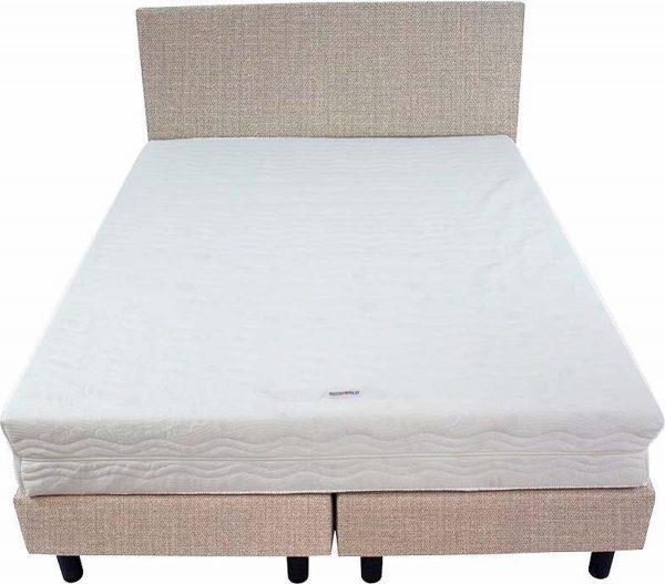 Bedworld Boxspring 140x220 - Medium - Seudine - Wit grijs (ONC21)