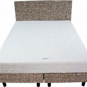 Bedworld Boxspring 140x220 - Medium - Tweedlook - Donker beige (M16)