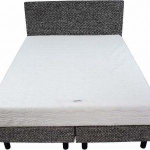 Bedworld Boxspring 140x220 - Medium - Tweedlook - Donker grijs (M95)