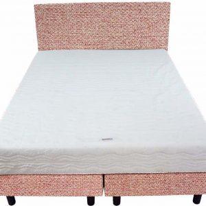 Bedworld Boxspring 140x220 - Medium - Tweedlook - Licht roze (M61)