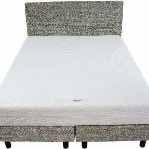 Bedworld Boxspring 140x220 - Medium - Tweedlook - Mint (M72)