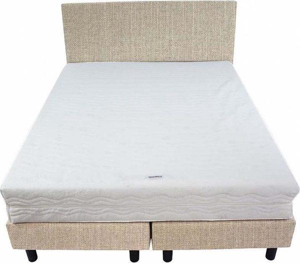 Bedworld Boxspring 140x220 - Medium - Waterafstotend fijn - Licht beige (MV02)