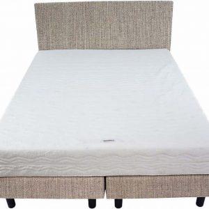 Bedworld Boxspring 140x220 - Medium - Waterafstotend fijn - Wit grijs (MV83)