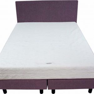 Bedworld Boxspring 140x220 - Stevig - Seudine - Licht paars (ONC64)