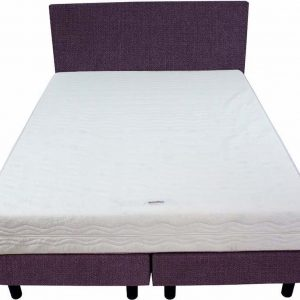 Bedworld Boxspring 140x220 - Stevig - Seudine - Paars (ONC65)