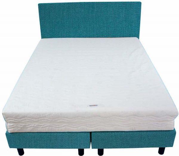 Bedworld Boxspring 140x220 - Stevig - Seudine - Turquoise (ONC85)