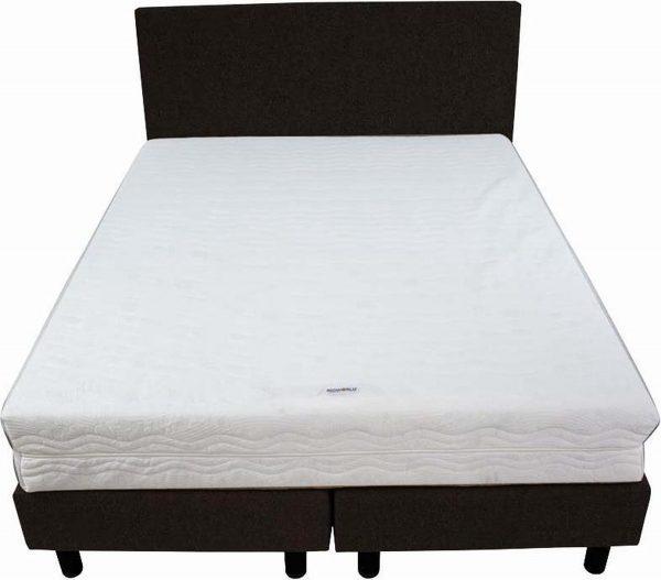 Bedworld Boxspring 140x220 - Stevig - Velours - Donker bruin (ML29)