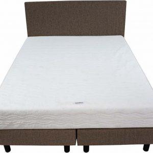 Bedworld Boxspring 140x220 - Stevig - Velours - Taupe (ML15)
