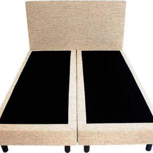 Bedworld Boxspring 140x220 - Stevig - Waterafstotend grof - Beige (P05)