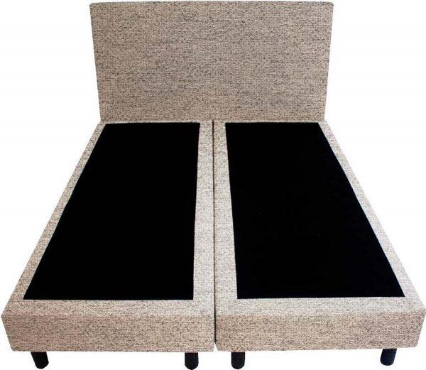 Bedworld Boxspring 140x220 - Stevig - Waterafstotend grof - Donker beige (P80)