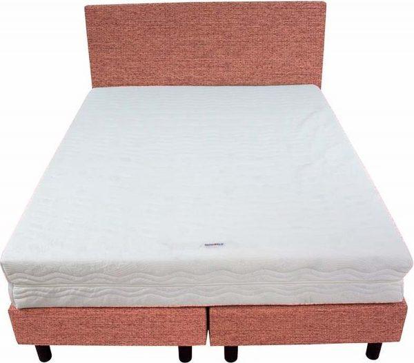 Bedworld Boxspring 140x220 - Stevig - Waterafstotend grof - Oud roze (P52)
