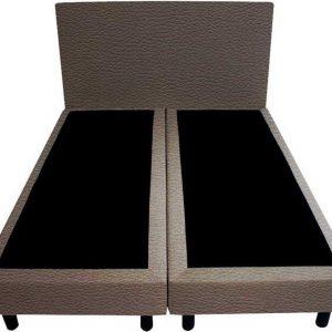 Bedworld Boxspring 160x220 - Geveerd - Lederlook - Antraciet (MD995)
