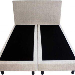 Bedworld Boxspring 160x220 - Geveerd - Seudine - Wit grijs (ONC21)