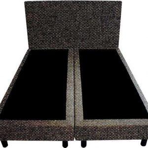 Bedworld Boxspring 160x220 - Geveerd - Tweedlook - Donker bruin (M94)