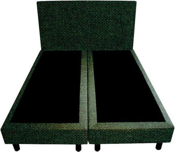 Bedworld Boxspring 160x220 - Geveerd - Tweedlook - Donker groen (M37)