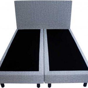 Bedworld Boxspring 160x220 - Geveerd - Velours - Zilvergrijs (ML70)