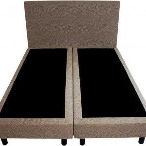 Bedworld Boxspring 200 x 200 - Geveerd - Lederlook (MD915)