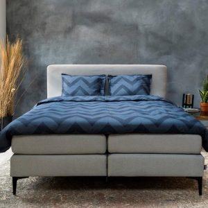 Beter Bed Select dekbedovertrek Shane - 140 x 200/220 cm - blauw