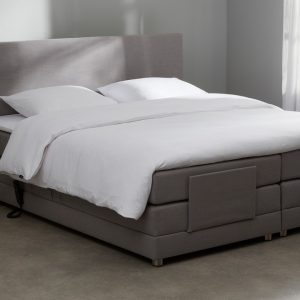 Bospring Move Verstelbaar Met Gestoffeerd Matras - 180 x 210 cm - grijs