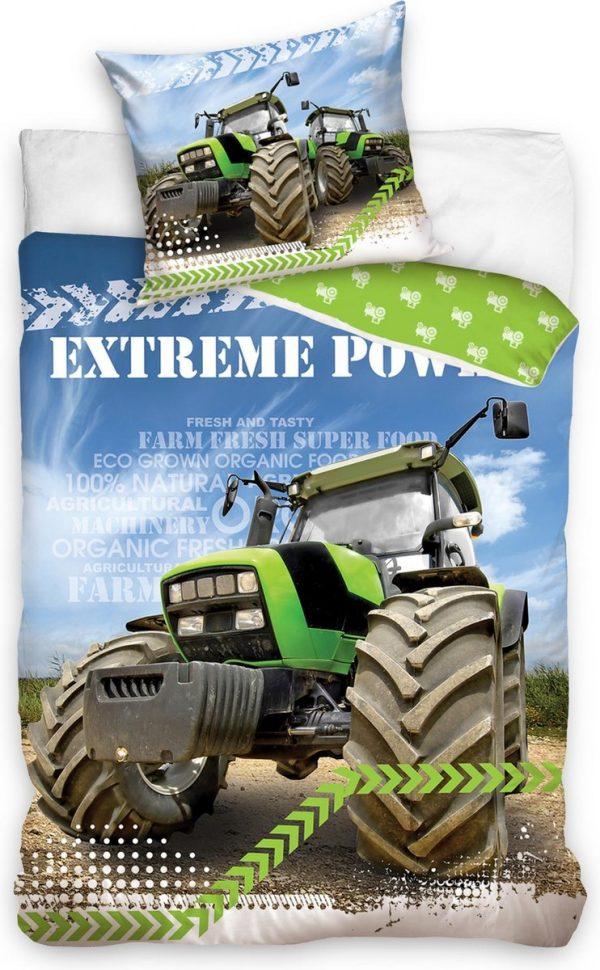 Carbotex Dekbedovertrek Tractor Junior 200 X 140 Cm Katoen