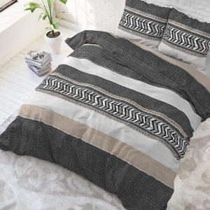 DreamHouse Bedding Northern Stripe - Grijs 1-persoons (140 x 220 cm + 1 kussensloop) Dekbedovertrek