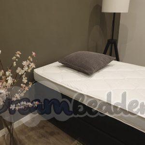 Hotel boxspring 70x220 Carlton ( Zonder Hoofdbord ) 1 pers. incl. Tencel HR55 koudschuim topper