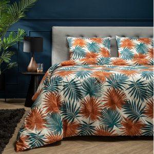 Presence Dekbedovertrek Pretty Palm - Terra Lits-jumeaux (240 x 220 cm + 2 kussenslopen) Dekbedovertrek