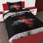 Sleeptime 4 kids Speed Dekbedovertrek - Eenpersoons - 140 x 220 cm - Zwart