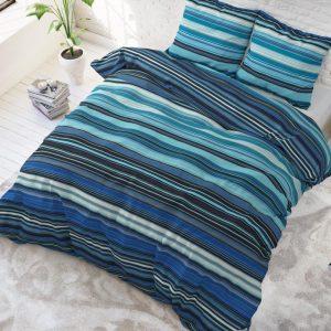 Sleeptime Elegance James - Blauw 1-persoons (140 x 220 cm + 1 kussensloop) Dekbedovertrek