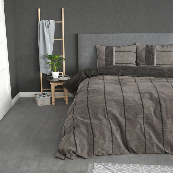 Sleeptime Elegance Kees - Flanel - Taupe 1-persoons (140 x 200/220 cm + 1 kussensloop) Dekbedovertrek