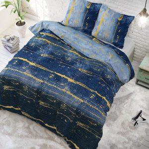 Sleeptime Elegance Scratchy - Blue 1-persoons (140 x 220 cm + 1 kussensloop) Dekbedovertrek
