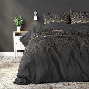 Sleeptime Elegance Tigarina Taupe 1-persoons (140 x 220 cm + 1 kussensloop) Dekbedovertrek