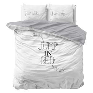 Sleeptime Indulge - Jump in Bed Dekbedovertrek Katoen - Wit - 140 x 220