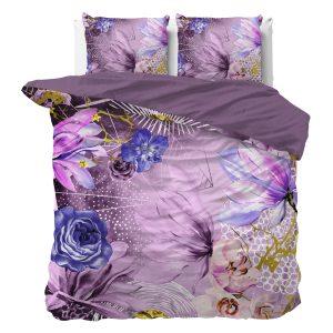 Sleeptime Indulge - Pink Flower Dekbedovertrek Katoen - Roze - 140 x 220
