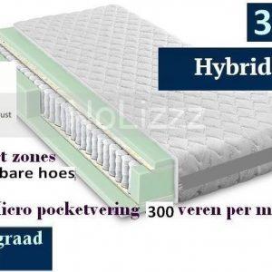 2-Persoons Matras -POCKET HYBRID 7 ZONE 21 CM - 3D - HARDHEIDSGRAAD (HARD) - 160x200/21
